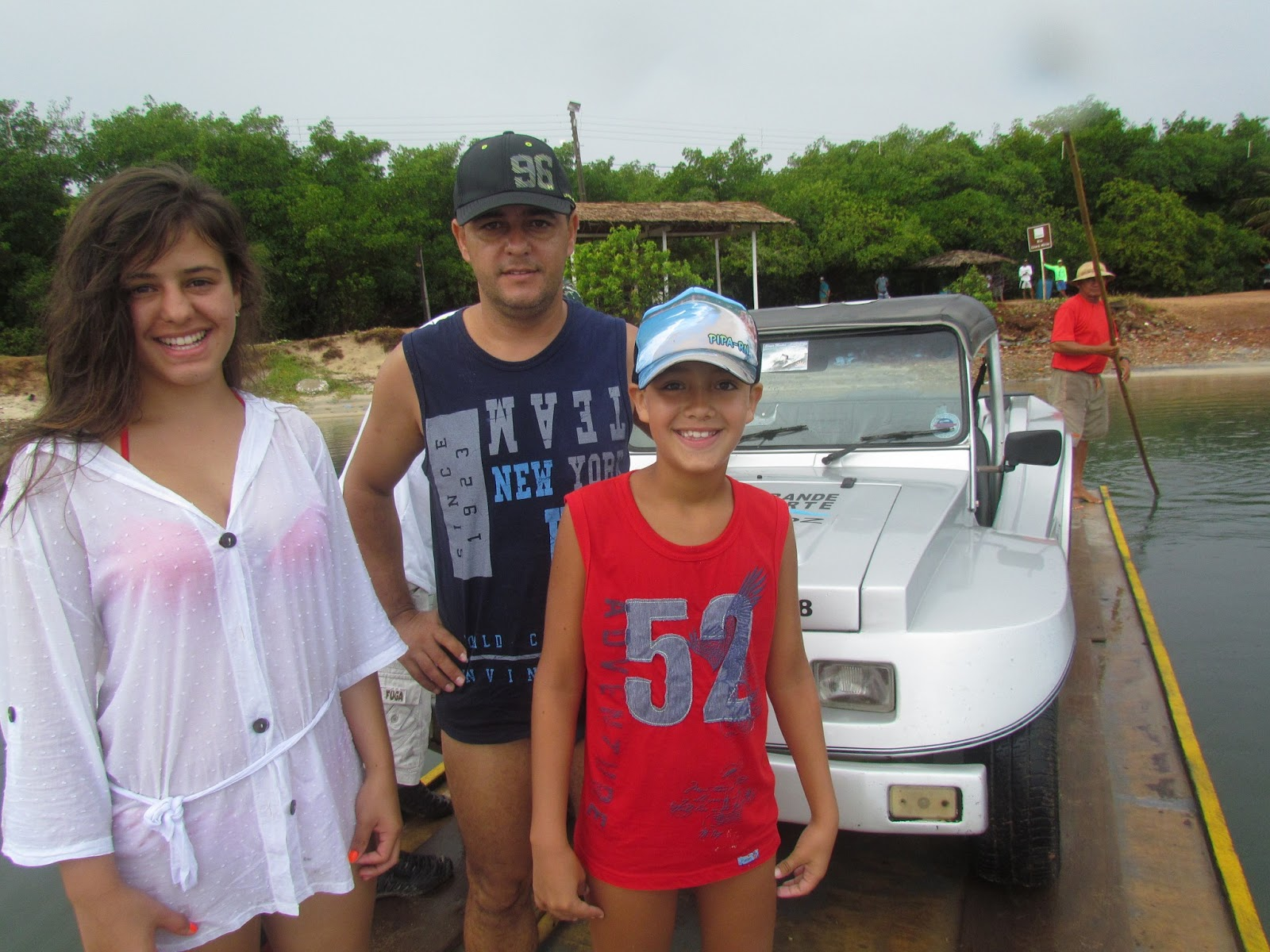Travessia no rio Ceará-Mirim em Genipabú-RN