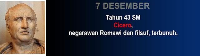 Hari kematian Cicero negarawan Romawi