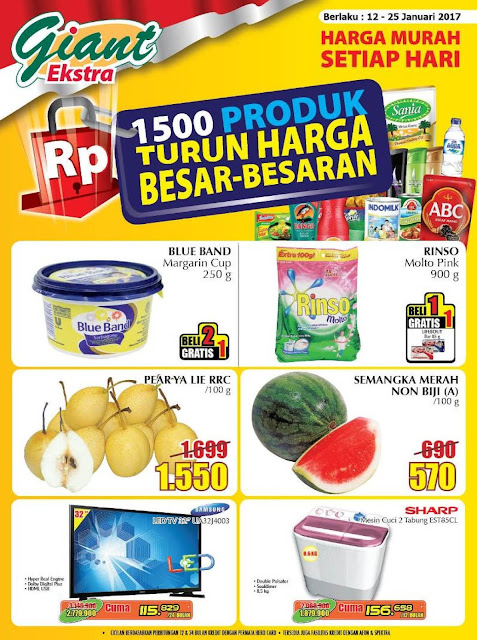 Katalog Giant Supermarket Ekstra Periode 12-25 Januari 2017