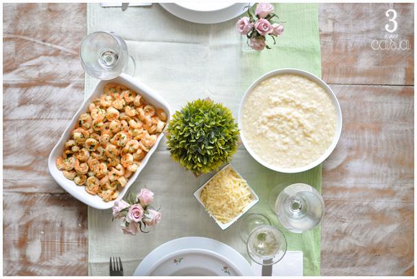 mesa de almoço de domingo gourmet