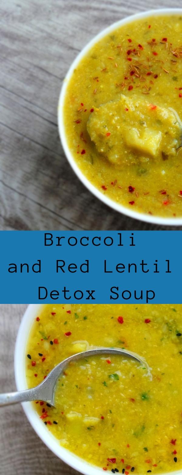Broccoli and Red Lentil Detox Soup