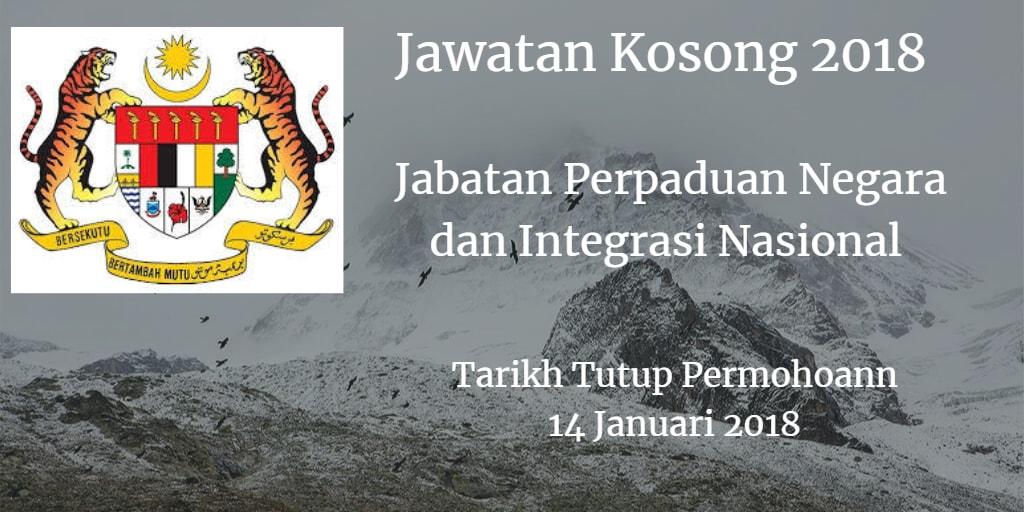 Jawatan Kosong JPNIN 14 Januari 2018