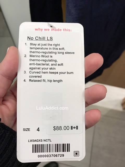 lululemon no-chill-ls