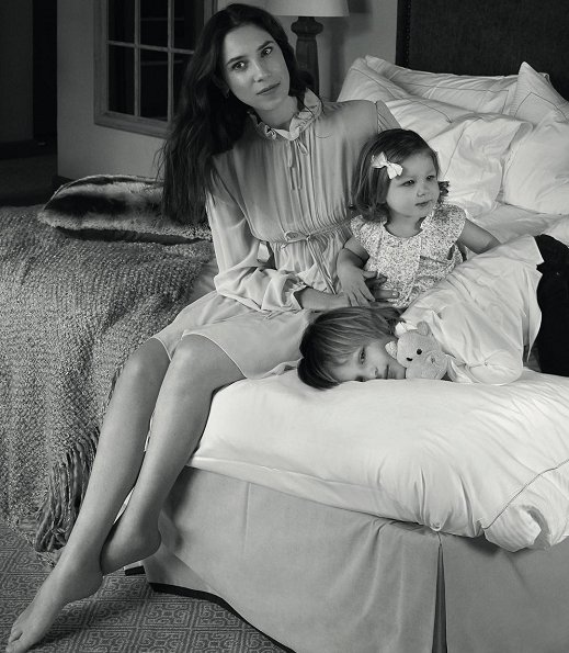 The Baby Dior shared new photos of Tatiana Casiraghi with her two children, India and Sasha on its Instagram account