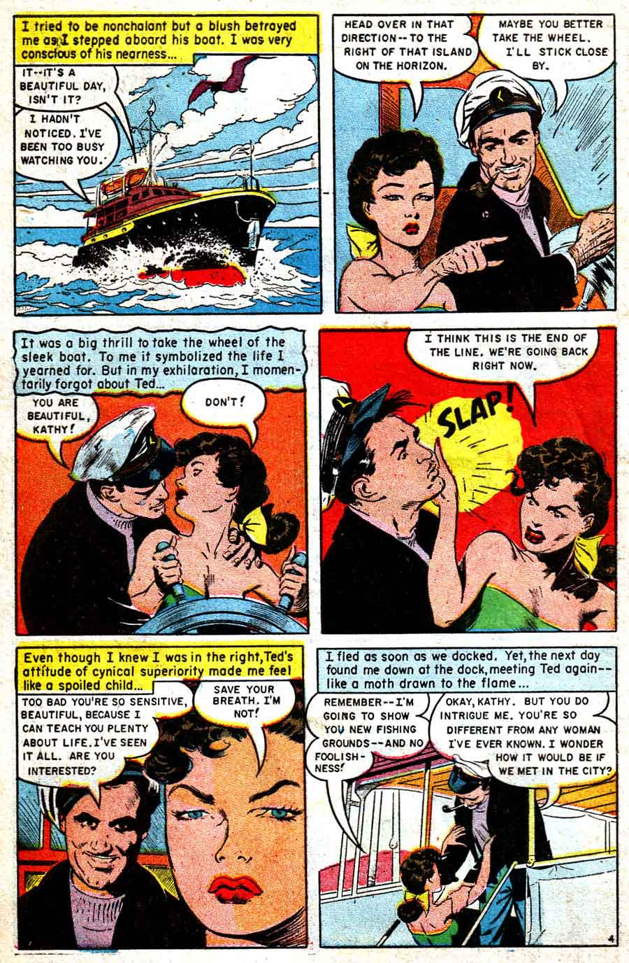 Personal Love v1 #27 golden age romance comic book page art by Frank Frazetta