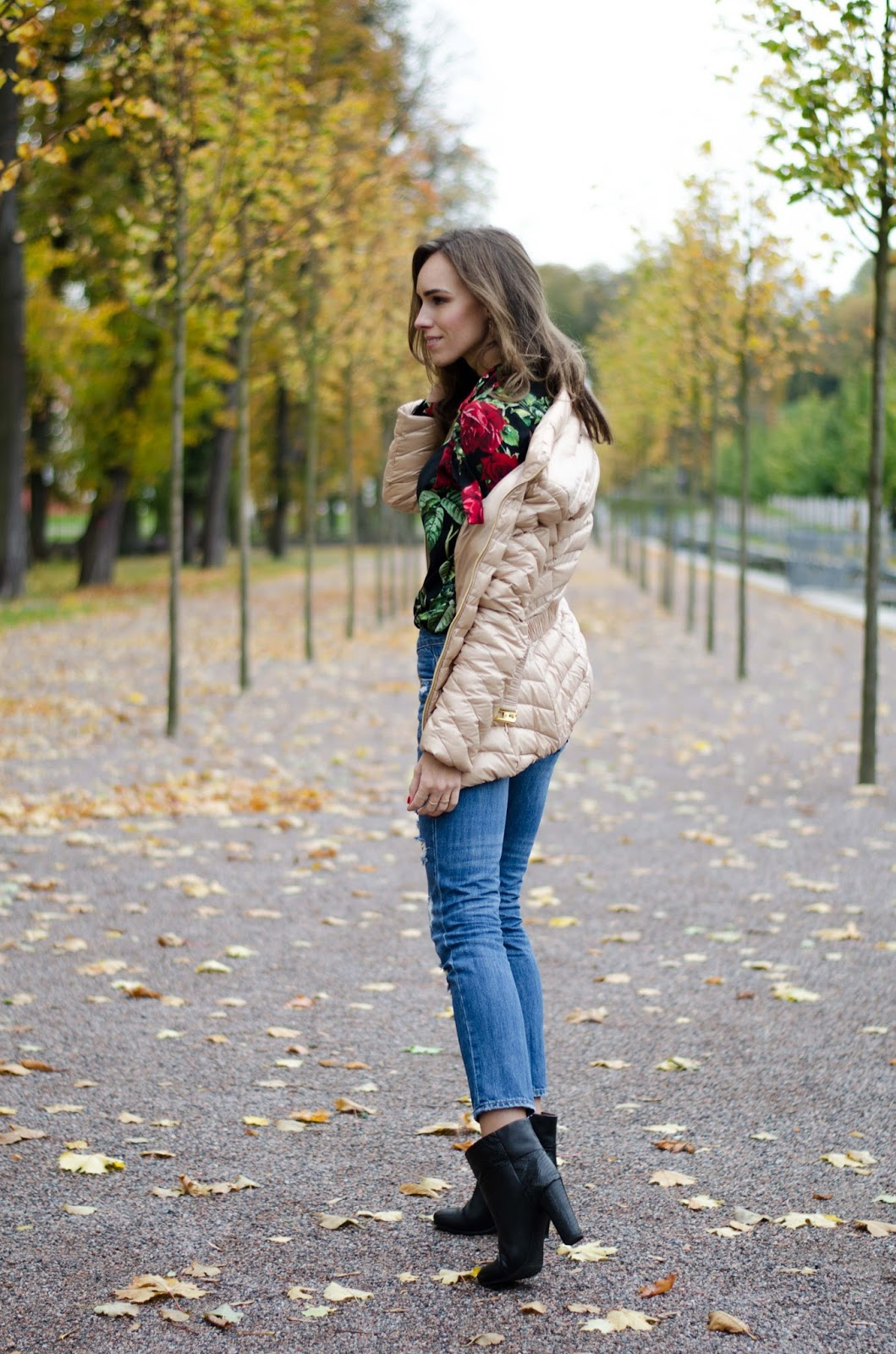 puffy jacket fall outfit