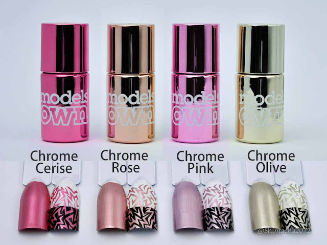 Models Own: Colour Chrome Collection (Stamping test)