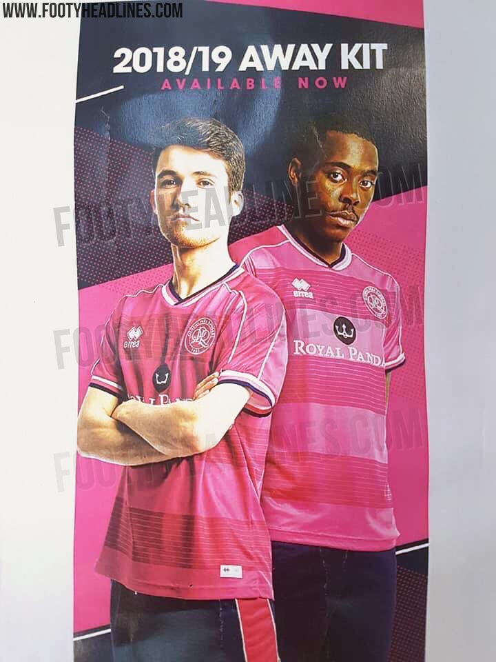 2356e364 The new QPR away jersey introduces a vibrant look in pink, white and black.  Inspired by the club's heritage, the Queens Park Rangers 2018-2019 away  shirt ...