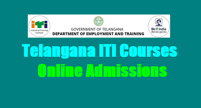 Telangana Ts Iti Courses Online Admissions 2018 Notification Www