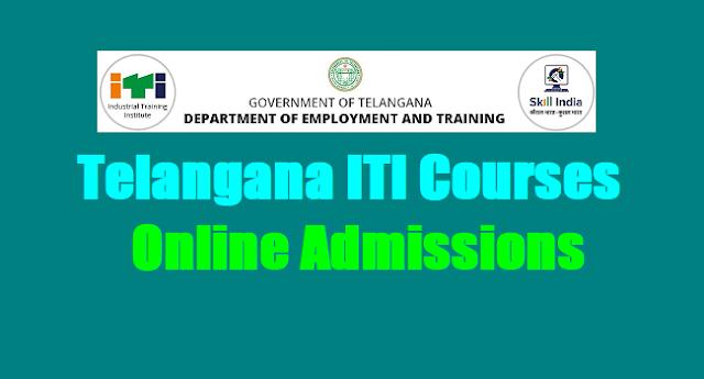 Telangana ITI Online admissions, TS ITI Courses Online admissions 2018,Online application form