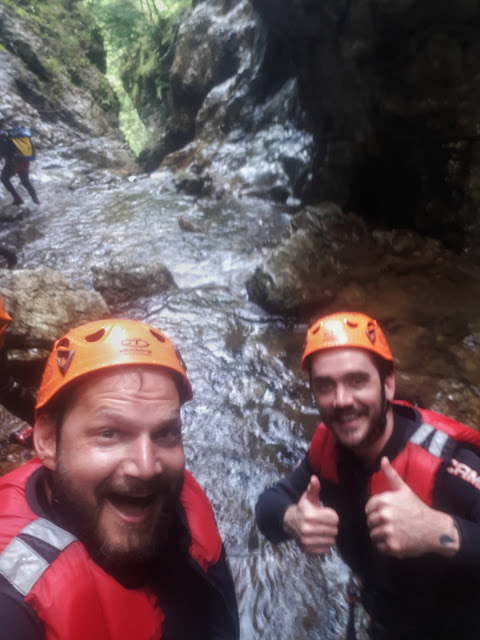 Canyoning in Valle di Ledro Trentino with The Social Traveler & Steven Herteleer
