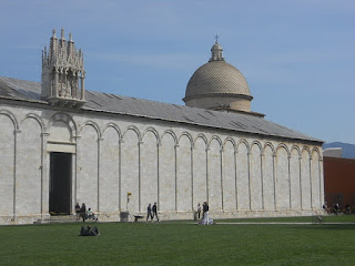 The Campo Santo is part of the Piazza dei Miracoli complex, the most famous landmark of which is the Leaning Tower