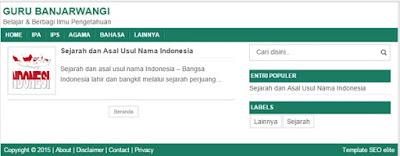 Download Gratis Template SEO Elite, Fast Loading Cocok untuk AdSesene