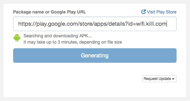 generate APK from Google Play
