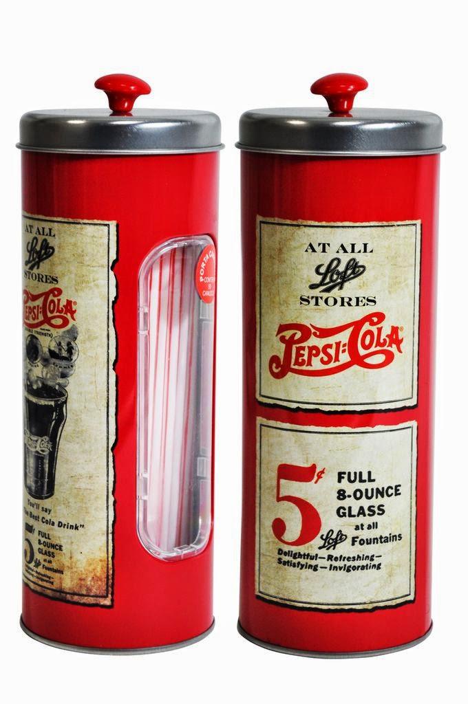 Produtos para decoração - Porta canudos da Pepsi