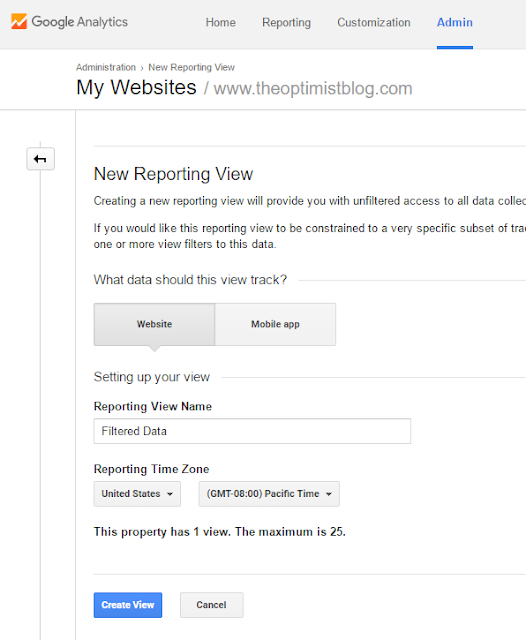 new reporting view in google analytics
