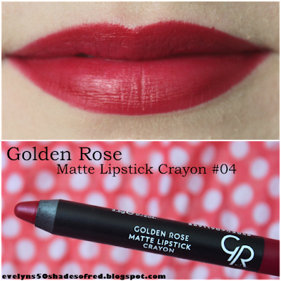 Golden Rose Matte Lipstick Crayon #04