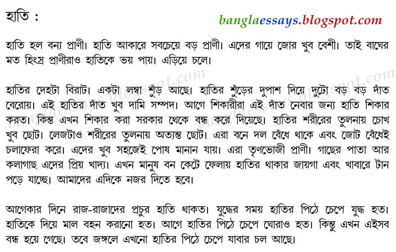 Bangla Essays: হাতি - Bangla Essay on Elephant | Bangla