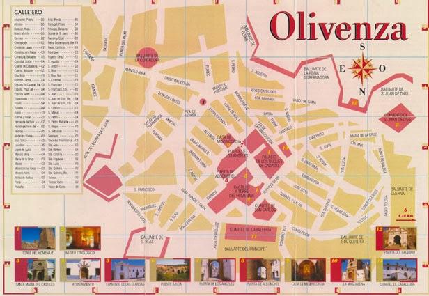 Mapa de Olivenza.