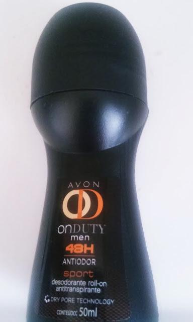Achegue-se! Comprei e gostei, desodorante roll-on antitranspirante Avon Onduty men 48h