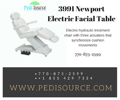 Newport Electric Facial Table and chairs from pedisource.com