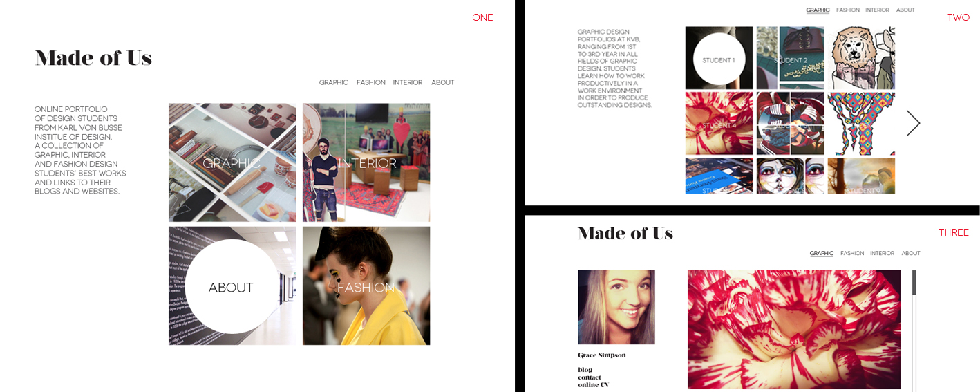 For The Multimedia Class At College I Was Asked To Design A Portfolio Website That Would Be Easy Navigate And Could Accomodate Over 50 Designers