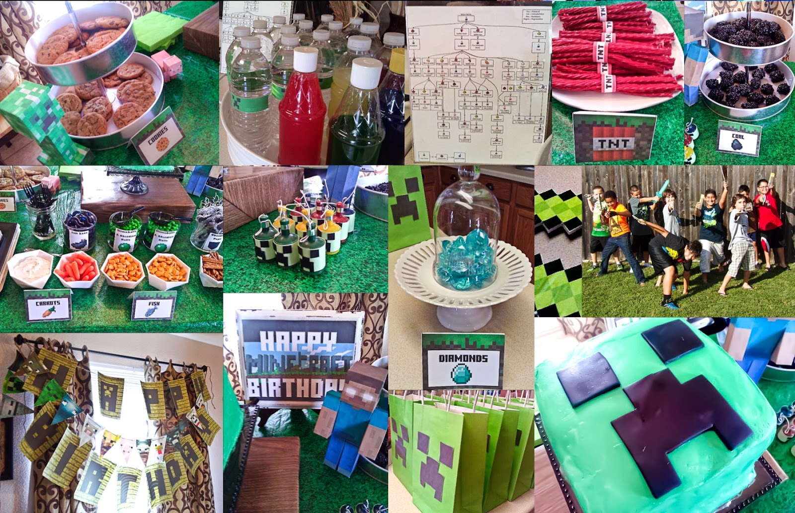 Minecraft Cake Decorations Party City Information