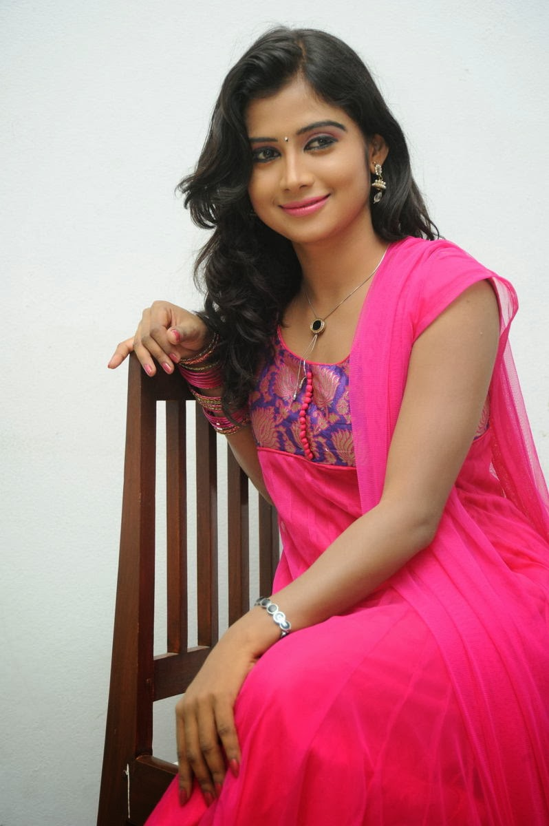 Pallavi sresta photos in pink salwar kameez at oka hindu oka muslim movie trailer launch