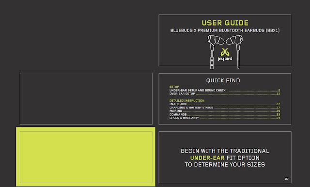 Jaybird Bluebuds X Manual
