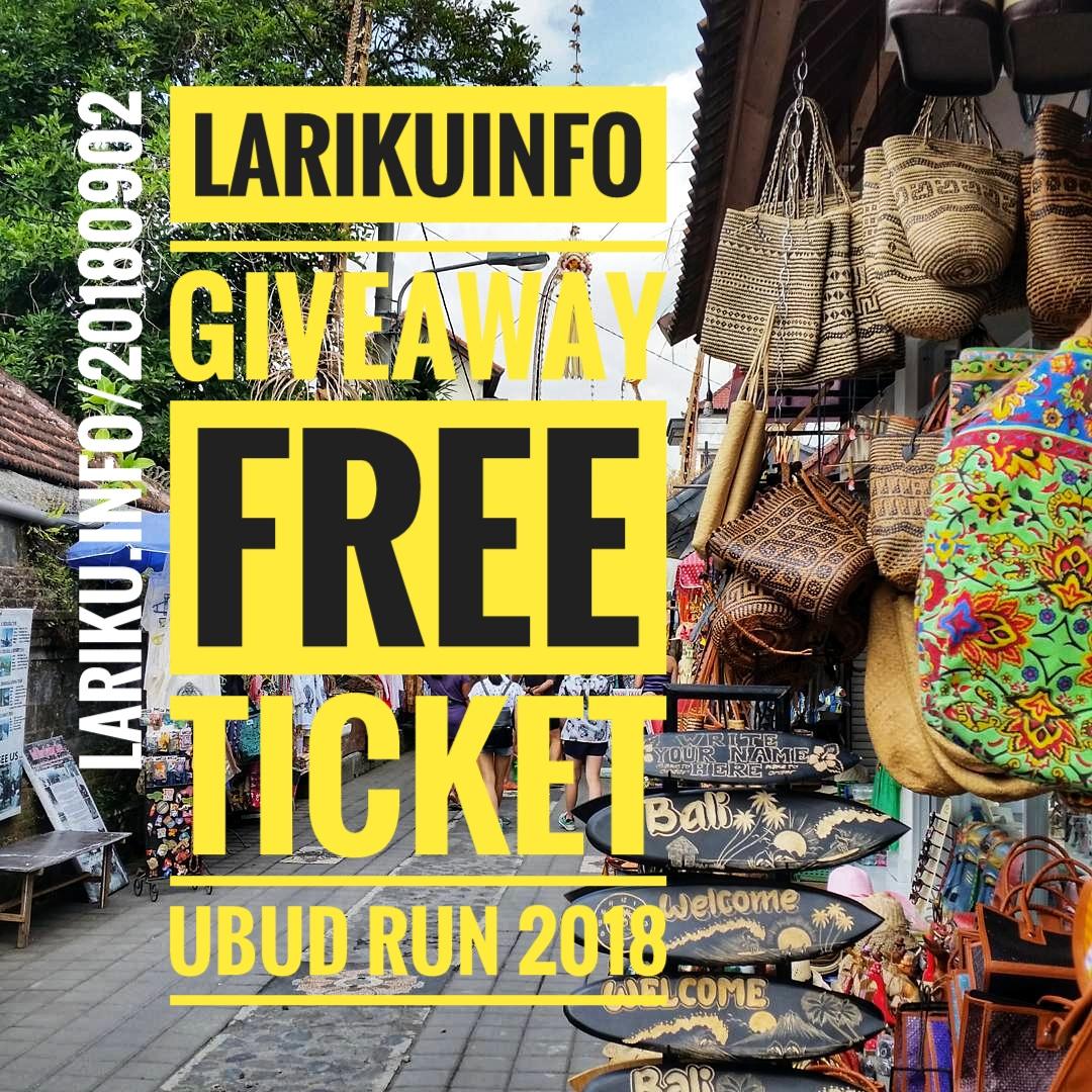 LariKuinfo Berbagi Tiket Ubud Run 2018