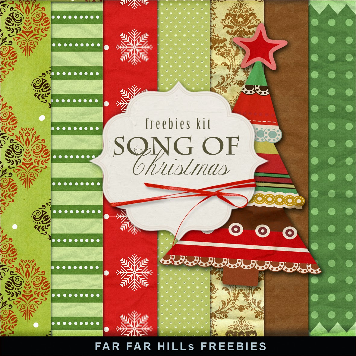 New Freebies Kit Of Backgrounds  Song Of Christmasfar Far Hill  Free Database Of Digital