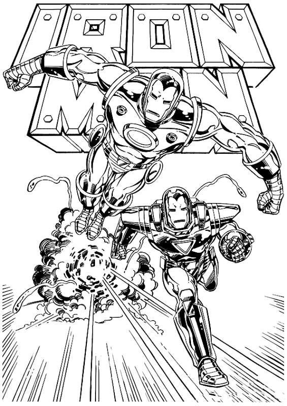 Free Iron Man Coloring Pages - Best Coloring Pages Collections
