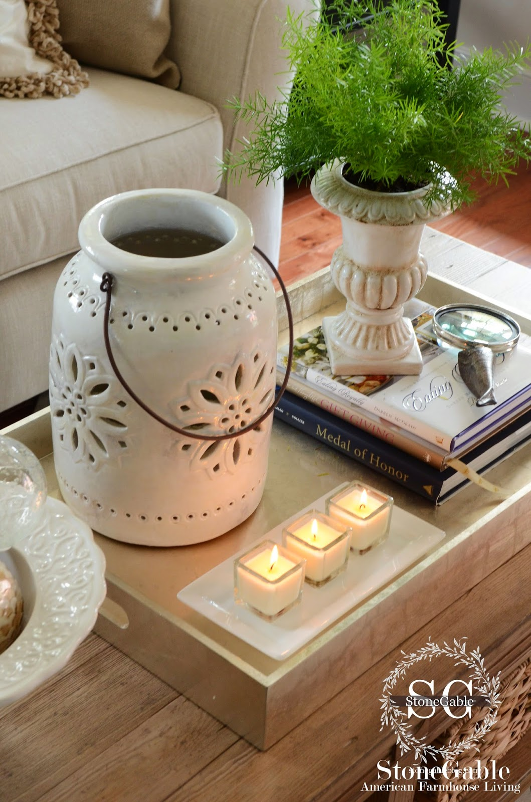 5 tips to style a coffee table like a pro stonegable for Table design tips