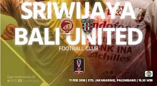 Susunan Pemain Sriwijaya FC vs Bali United