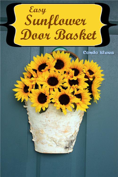 Fall Wreath Alternative: DIY Birch Sunflower Basket