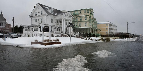 Winter storm juno and flood impact in New Jersey