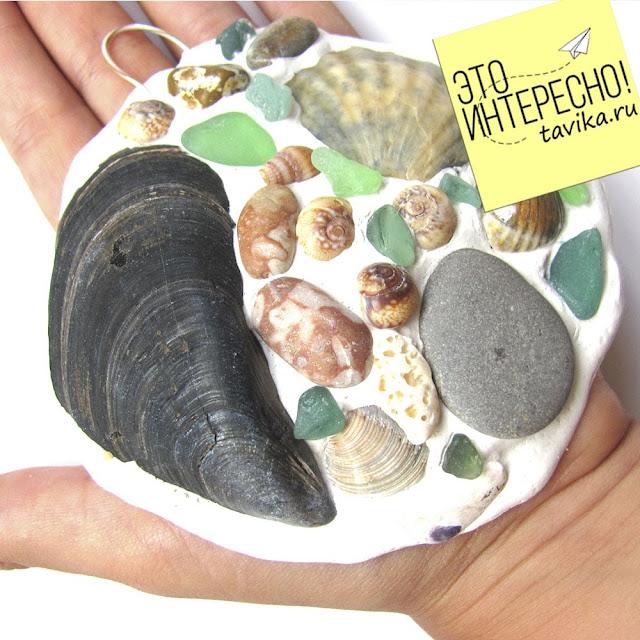 морской сувенир из ракушек своими руками детская поделка