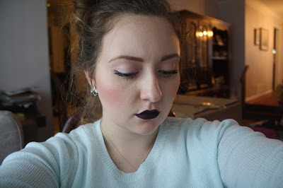 stila liquid lipstick chianti swatch super dark