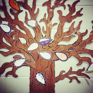 "Scenery for an elementary music program, based off the book ""The Gratitude Tree."" Blog post also includes song and dance suggestions!"