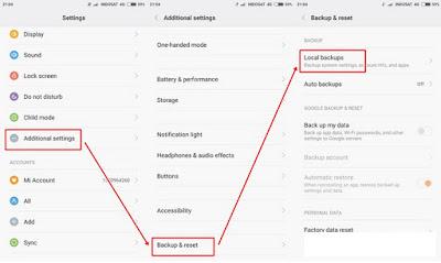Untuk beberapa masalah data yang tersimpan di hp xiaomi menyerupai data setingan aplikasi Cara gampang backup / restore kontak dan data aplikasi di hp xiaomi