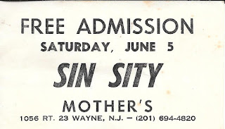 Sin Sity free pass for Mother's rock club