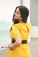 Actress Poojitha Stills in Yellow Short Dress at Darshakudu Movie Teaser Launch .COM 0314.JPG