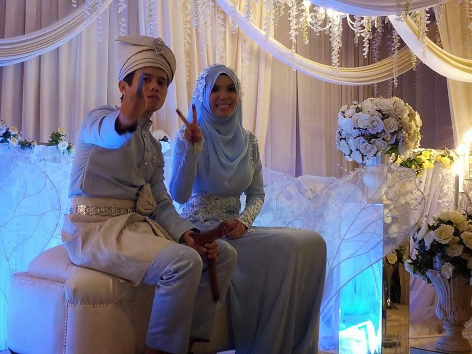 Foto cun majlis perkahwinan blogger Cik Epal