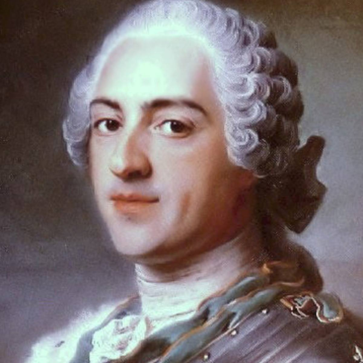 Louis XV was King of France and Navarre from 1715, when he was five years  old, until his death in 1774 at the age of sixty-four.