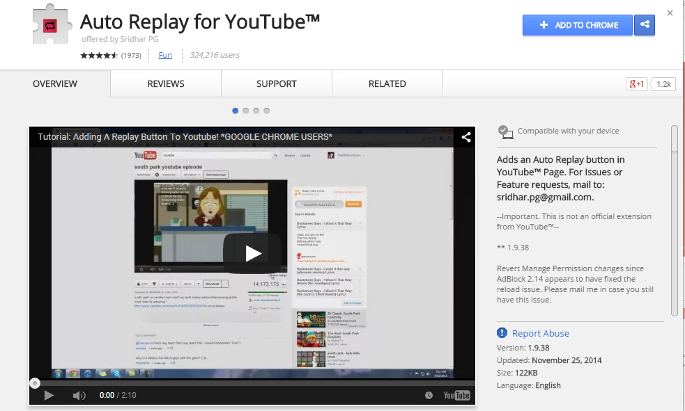 how to auto repeat on youtube