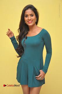 Telugu Actress Prasanthi Stills in Green Short Dress at Swachh Hyderabad Cricket Press Meet  0005.JPG
