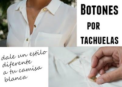 Cambiar los botones de una camisa por tachuelas