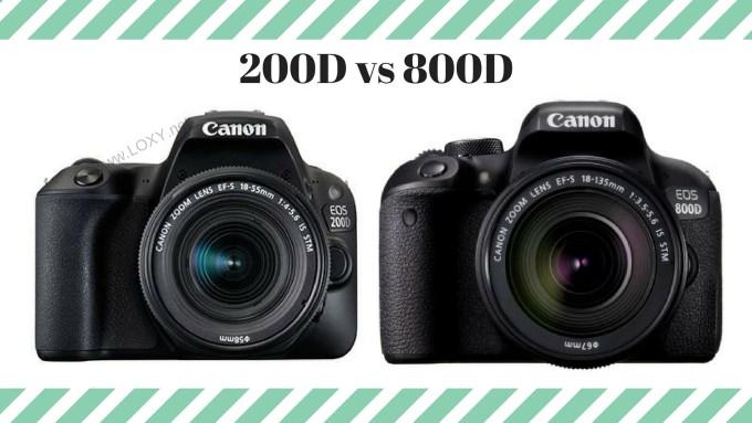 Canon Eos 200D vs 800D Artıları ve Eksileri