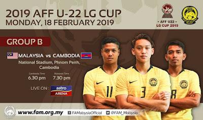 Live Streaming Malaysia vs Cambodia AFF U22 (18.2.2019)
