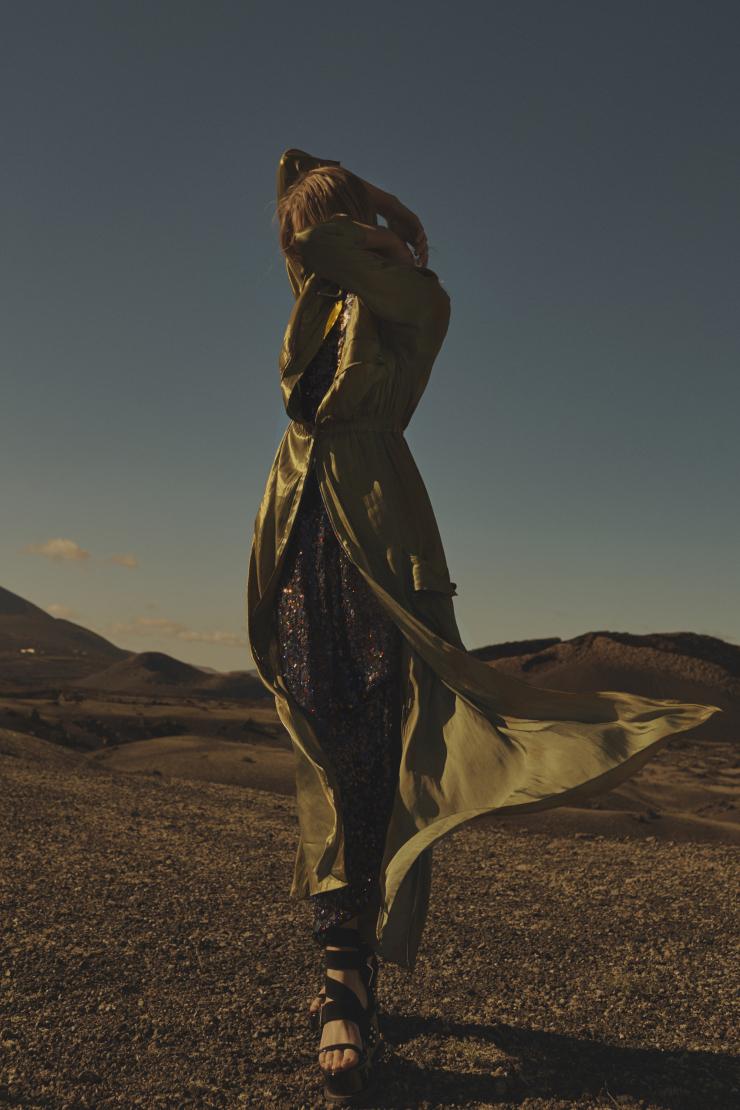 AU-DESSOUS DU VOLCAN: Toni Garrn for L'Express Styles